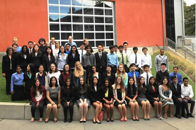 Participants in the 2013 Science Internship Program at UCSC posed for a group photo after presenting their work at the end of the summer. (Photo by Mark Yamaguma)